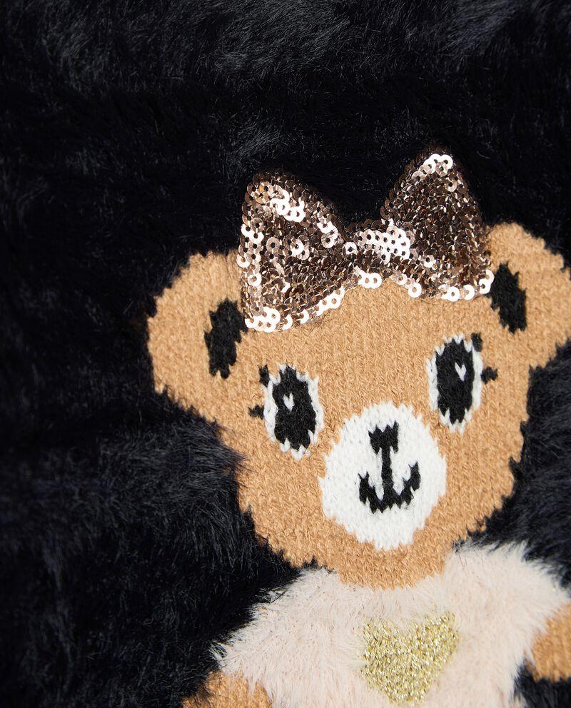 Tricot girocollo in filato peloso con volpi bambina single tile 1