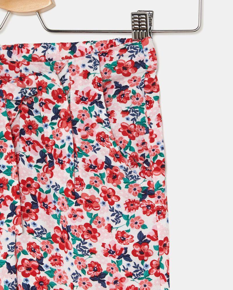 Pantaloni con fantasia floreale