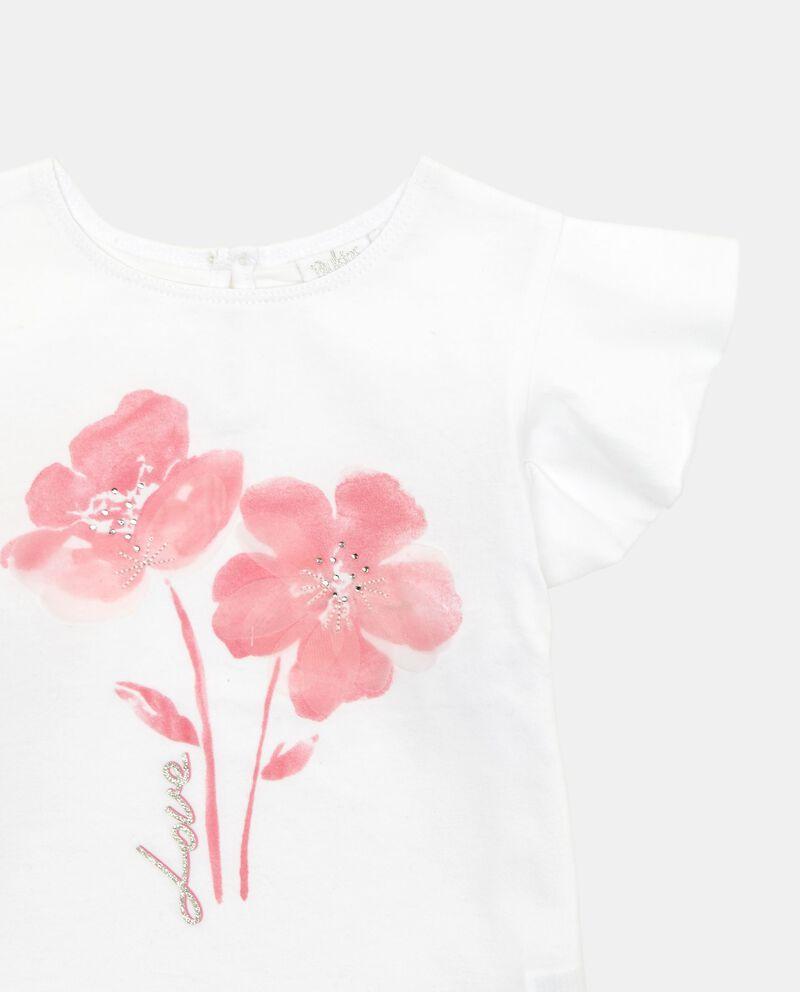 T-shirt cotone stretch stampa fiore