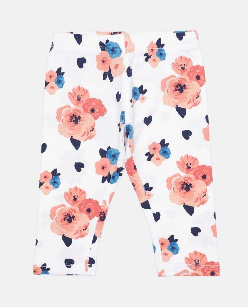 Pantaloni shorts in misto cotone con fantasia floreale