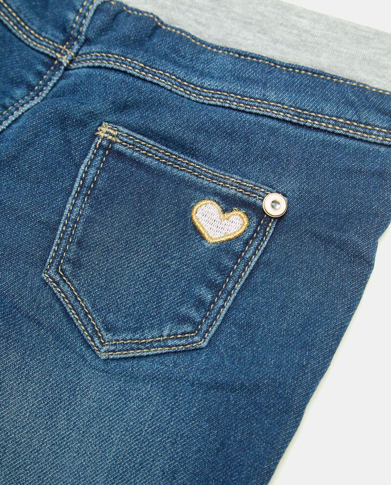 Pantalone in denim con strass neonatadouble bordered 1
