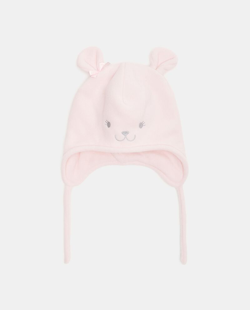 Cappellino in pile a forma di orsetto neonatadouble bordered 0