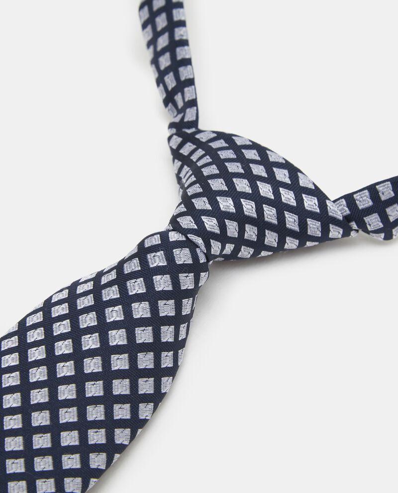 Cravattino in puro cotone con motivo a quadri bambino
