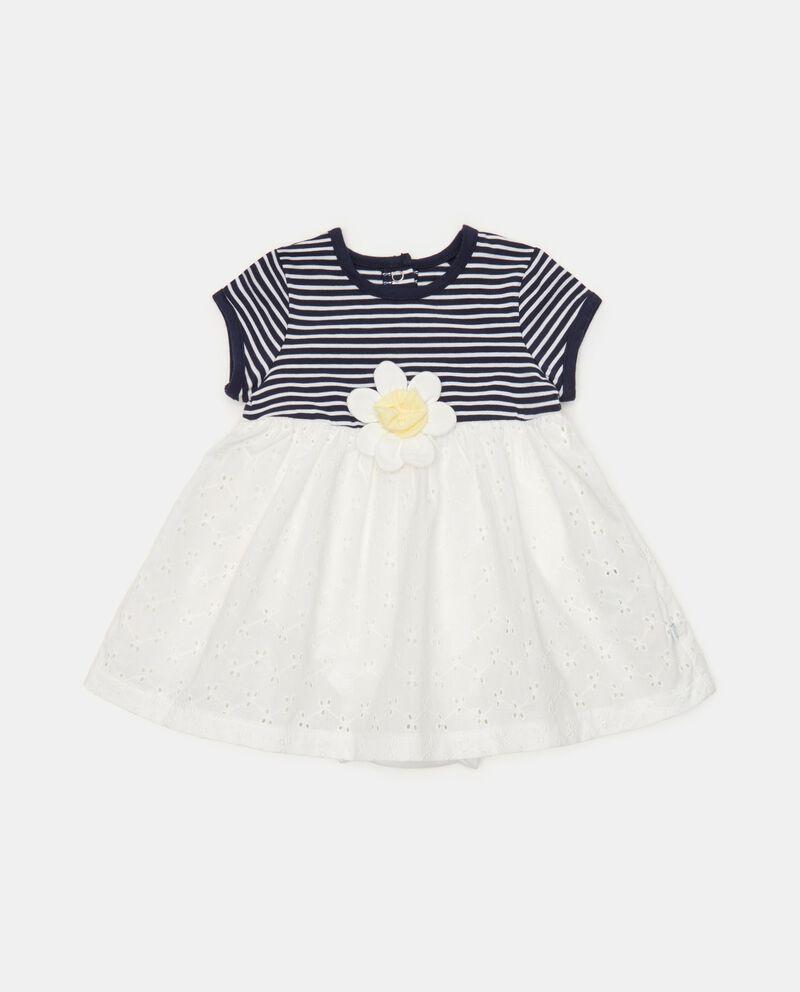 Vestito in jersey con fondo sangallo neonatadouble bordered 0