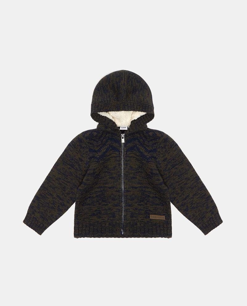 Maglioncino con zip e cappuccio neonato cover