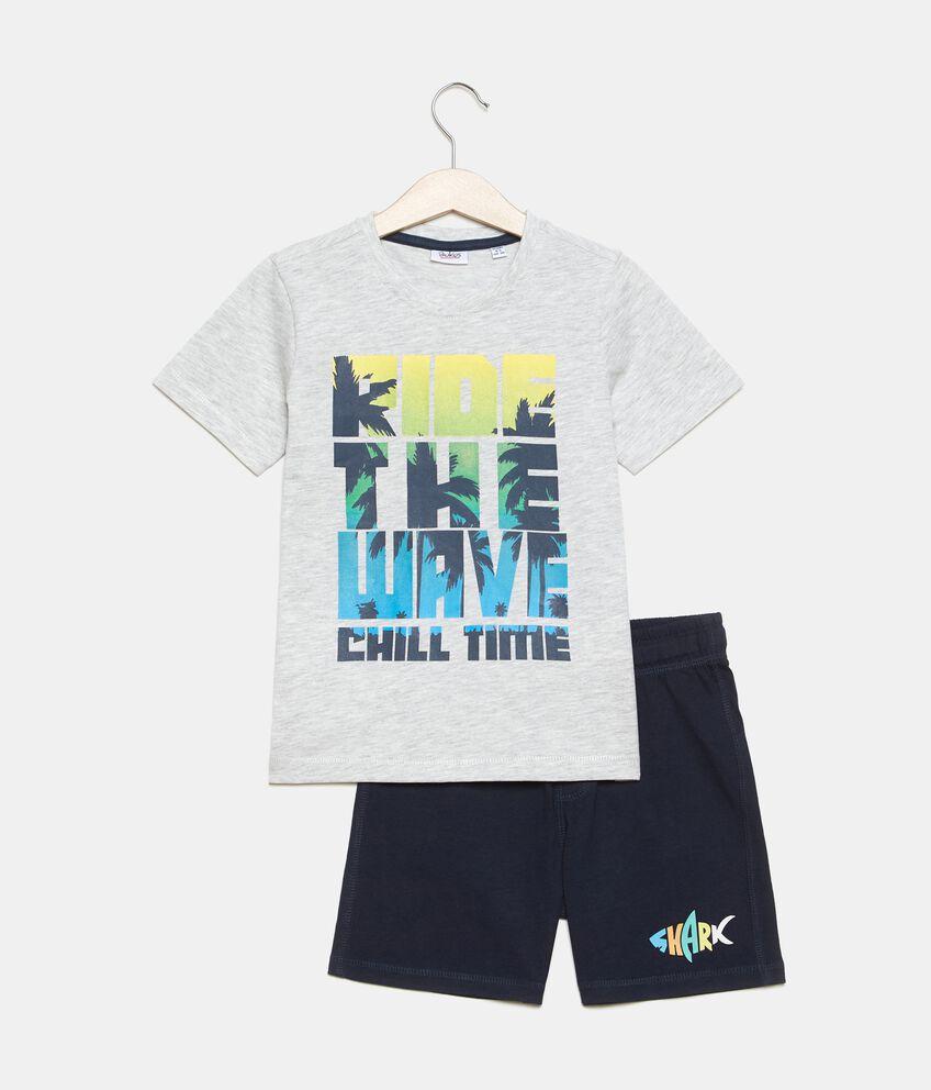 Jogging set stampato cotone organico jersey bambino