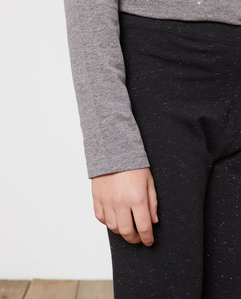 Leggings tinta unita con lurex