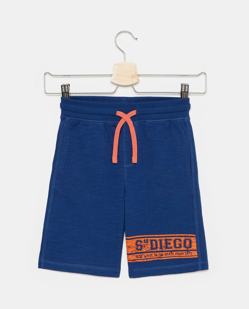Shorts in cotone coulisse a contrasto