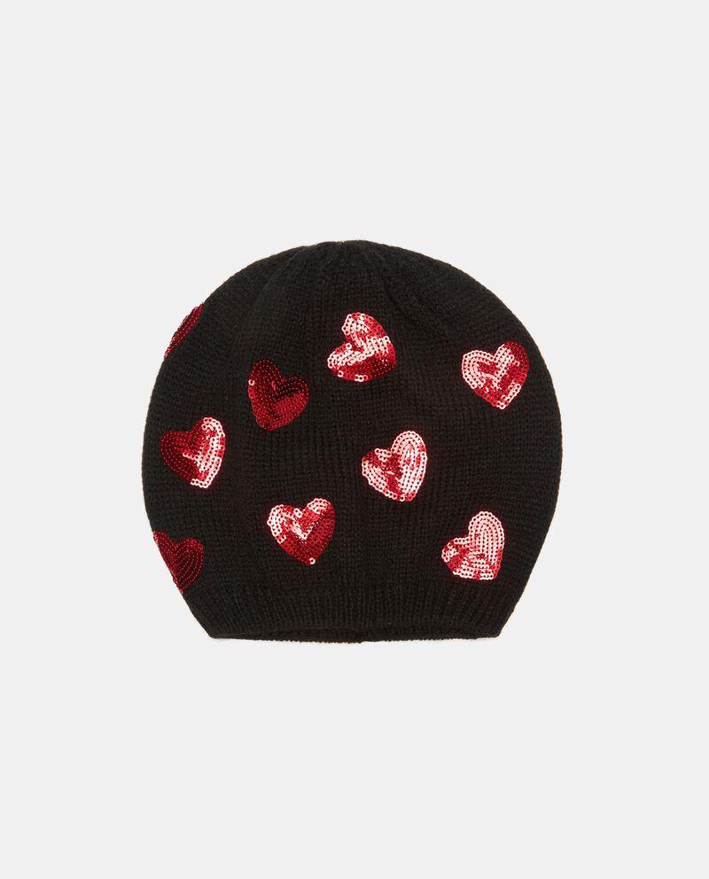 Cuffia tricot con paillettes cover