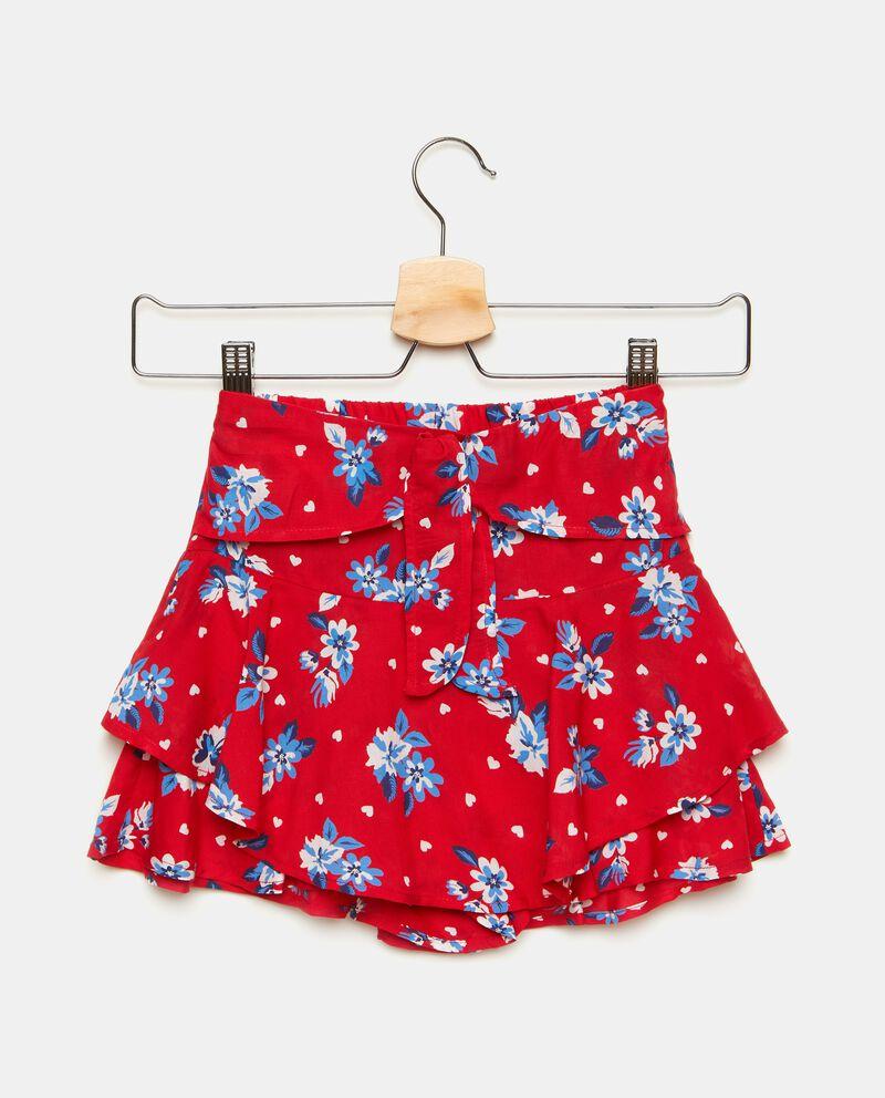Gonna pantalone con fantasia floreale bambina