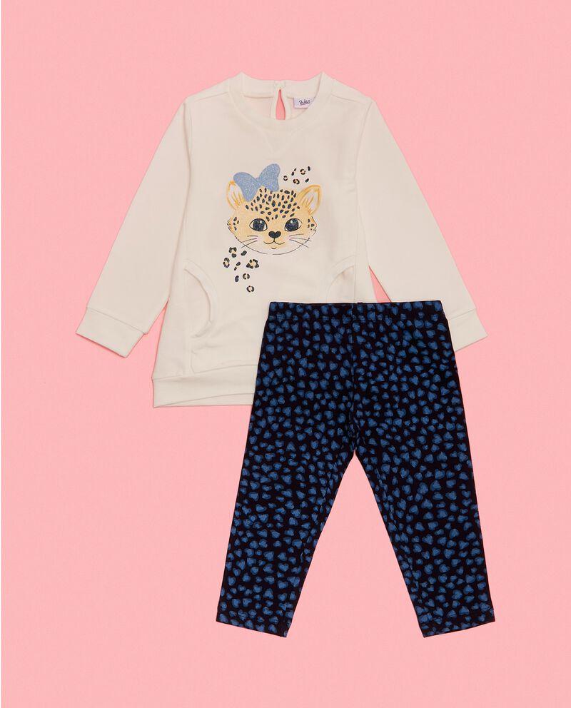 Completino maglia e leggings in cotone biologico neonata